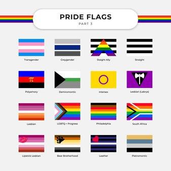 Lgbt 깃발 무료 벡터로 lgbt 자유와 지원을 축하하십시오