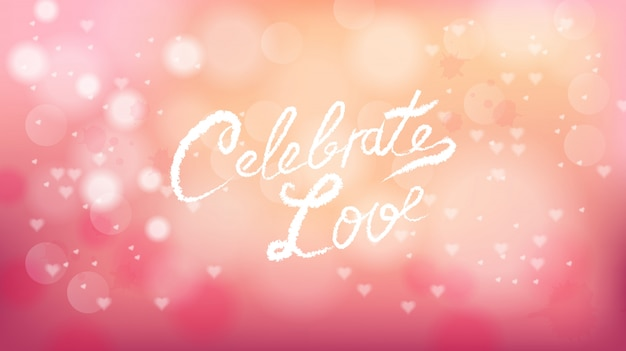 Celebrate love on valentines day pink background
