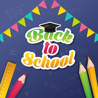 Celebrating back to school poster template design