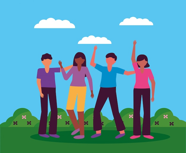 Festeggiamo il design dei giovani felici