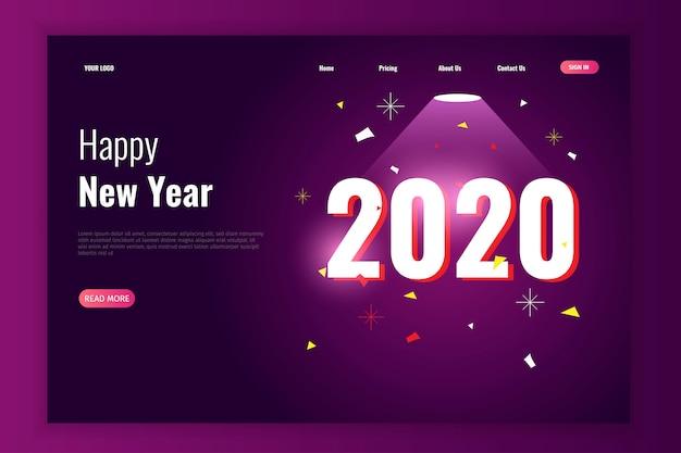 Celebrating new year and christmas party landing page