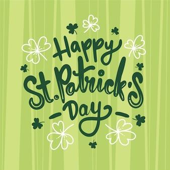 Celebrating st. patrick's day lettering