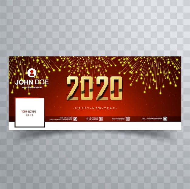 Celebration 2020 new year  cover banner teplate