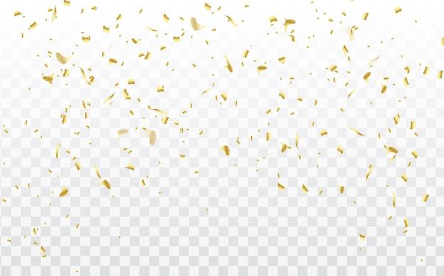 お祝いの背景、紙吹雪が分離されました。落下する紙吹雪、誕生日、新年、クリスマスのイラスト