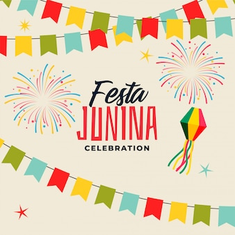 Celebration background for festa junina festival