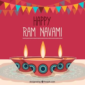 Celebration background of ram navami