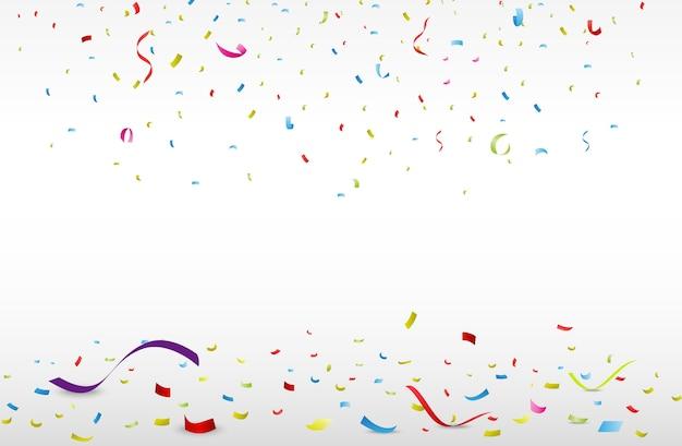 Celebration background with colorful confetti
