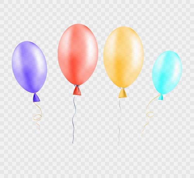 イラストを挨拶するためのお祝いの風船