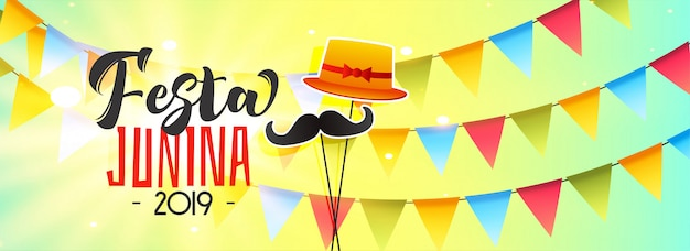Celebration banner for festa junina