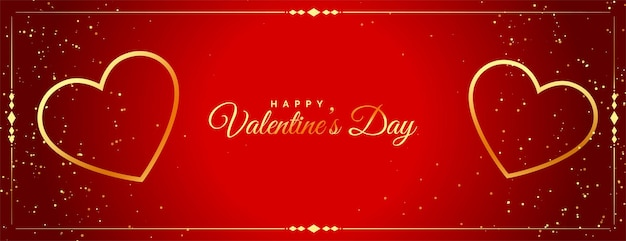 Celebration banner for valentines day design