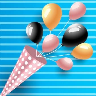 Celebration birthday holiday balloons