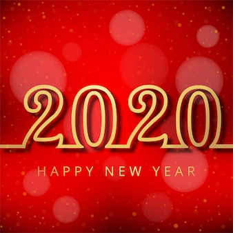 Celebration card 2020 happy new year