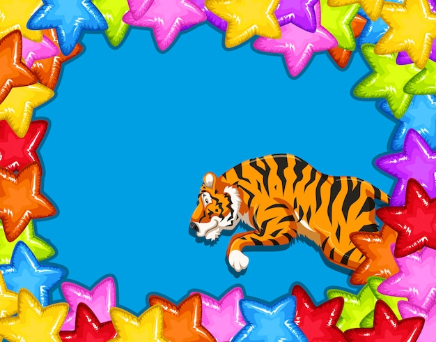 Celebration card with tiger