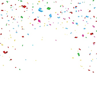 Celebration carnival. bright colorful vector confetti