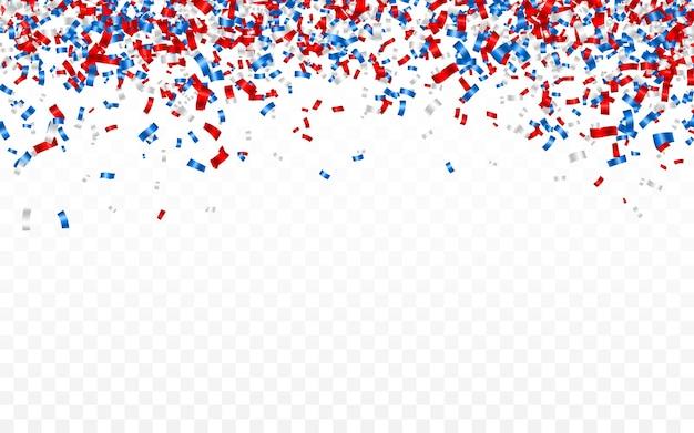 光沢のあるキラキラ紙吹雪に落ちるお祝いカーニバル