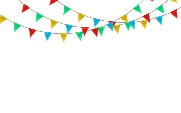 お祝いのカーニバル。パーティーフラグガーランド