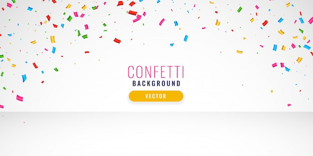 Celebration confetti background design banner