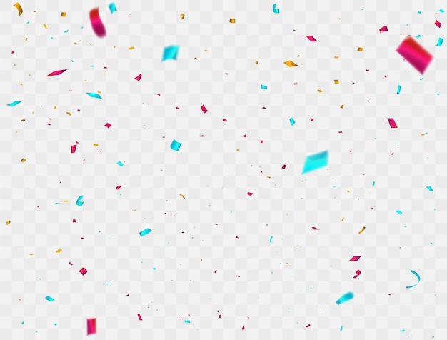 Celebration confetti colorful ribbons. luxury greeting rich card.