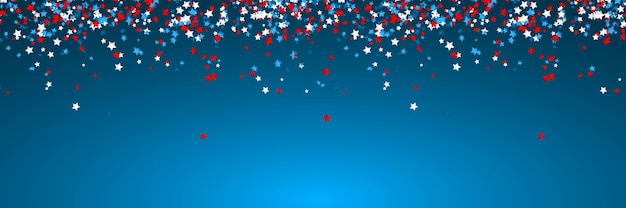 Celebration confetti in national colors of usa. holiday confetti in us flag colors. 4th july independence day Premium Vector