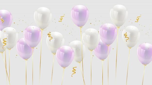 Празднование дизайна воздушного шара розового цвета