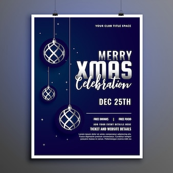 Celebration flyer for merry christmas season