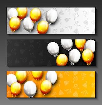 Celebration happy birthday party banner
