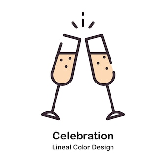 Celebration lineal color illustration