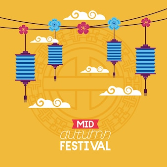 Celebration mid autumn festival card