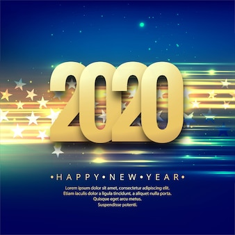 Celebration new year 2020 colorful creative
