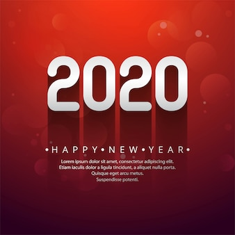 Celebration new year 2020 creative text
