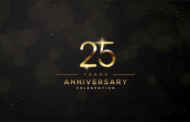 우아한 골드 컬러의 얇은 피겨로 25 주년을 축하합니다.