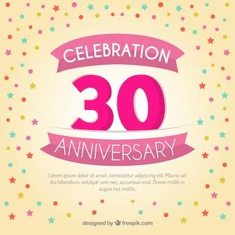 Celebration thirty years anniversary