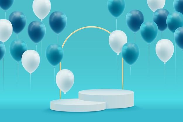 Celebrazione con stile realistico del podio