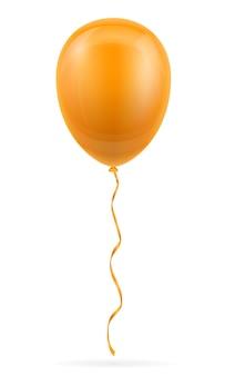 화이트 리본으로 기념 오렌지 풍선 펌핑 헬륨