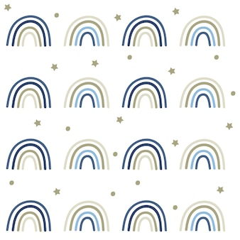 하늘색 무지개 완벽 한 패턴입니다.