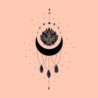 Небесная иллюстрация лотос магическое и мистическое искусство