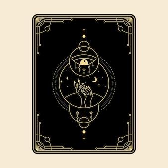 Небесный магический карты таро эзотерический оккультный духовный читатель колдовство магия кристалл глаз символы