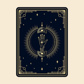 Celestial magical tarot cards esoteric occult spiritual reader witchcraft magic crystal hands eye