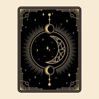 Celestial magical tarot cards set esoteric occult spiritual reader witchcraft magic crystal symbols