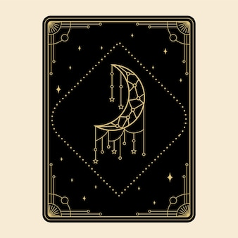 Celestial magical tarot cards set esoteric occult spiritual reader witchcraft magic decorative moon