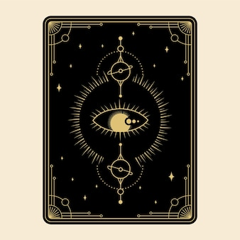 Celestial magical tarot cards set esoteric occult spiritual reader witchcraft magical eye of god