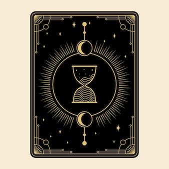 Celestial magical tarot cards set esoteric occult spiritual reader witchcraft sandglass hourglas