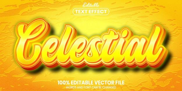 Celestial text, font style editable text effect