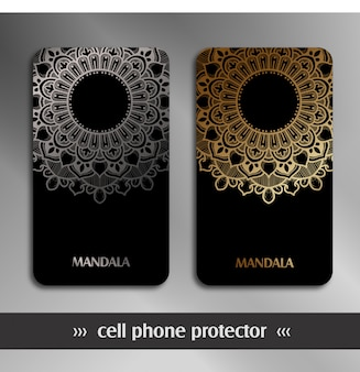 Cell phone protector with mandala