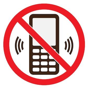 휴대 전화 경고 정지 신호 아이콘입니다. 푸시 버튼 전화가 꺼집니다. 벡터 일러스트 레이 션