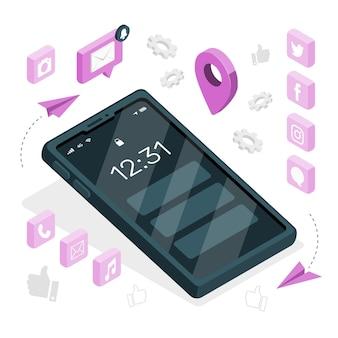 携帯電話の概念図