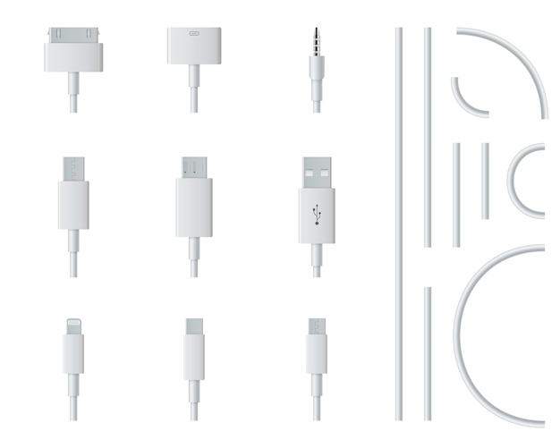 Cellphone usb charging plugs cable, smart phone.