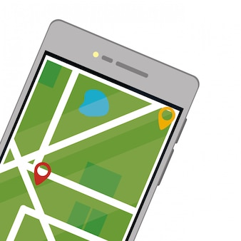Cellphone with map