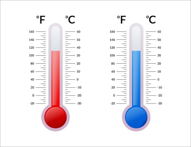 섭씨 및 화씨 온도계