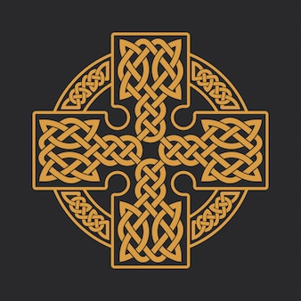 Celtic cross ethnic ornament t-shirt print